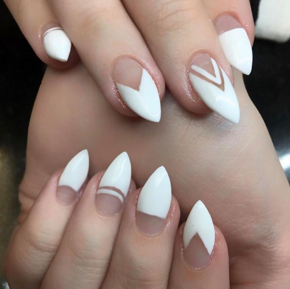 wedding nails, wedding makeup